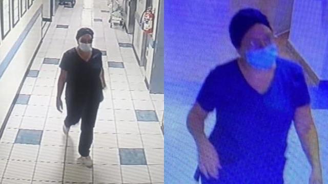 Mujer vestida enfermera robó una bebé