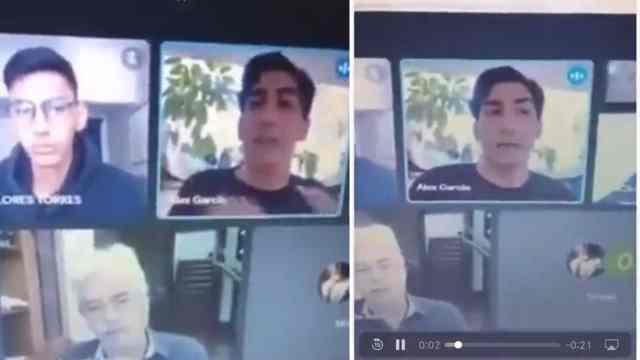 Video alumno de Derecho acusa a maestro de presionarlo demasiado