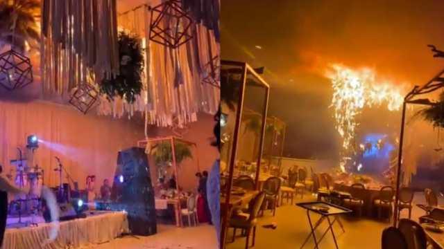 Captan en video el momento en que un incendio arruina una boda en Torreón