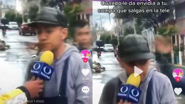 Zapean e insultan a joven tianguista en entrevista