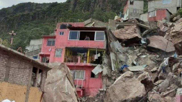 Desgaja Cerro Chiquihuite Sepulta Casas Tlalnepantla Video