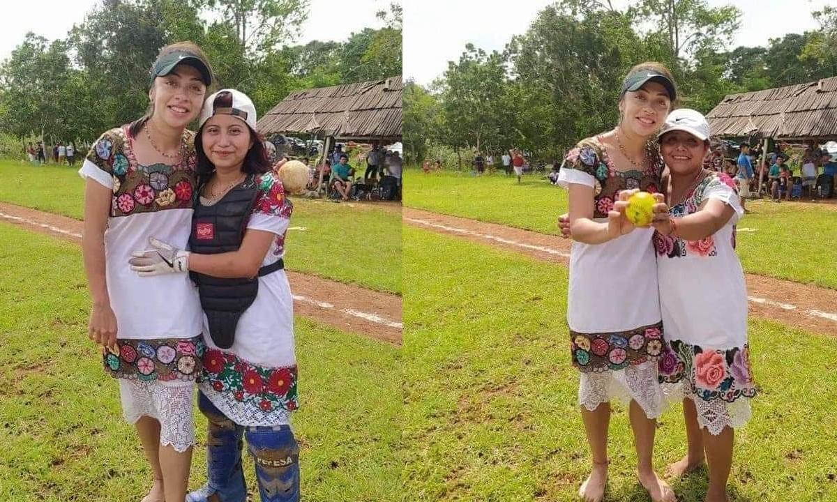Stefanía Aradillas Visita Diablas de Hondzonot Softbol