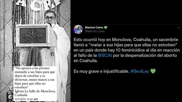 Sacerdote de Monclova se manifiesta contra el aborto