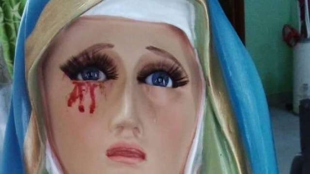 Virgen de Dolores Llora Sangre Puebla Fotos