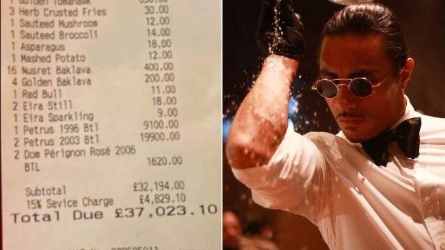 Comensal gasta más de 1 millón de pesos en restaurante de Salt Bae y recibe críticas