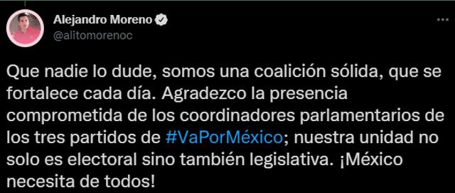 """Ni una sola mujer en reunión de """"Va por México""""; en redes critican a los políticos y empresarios"""