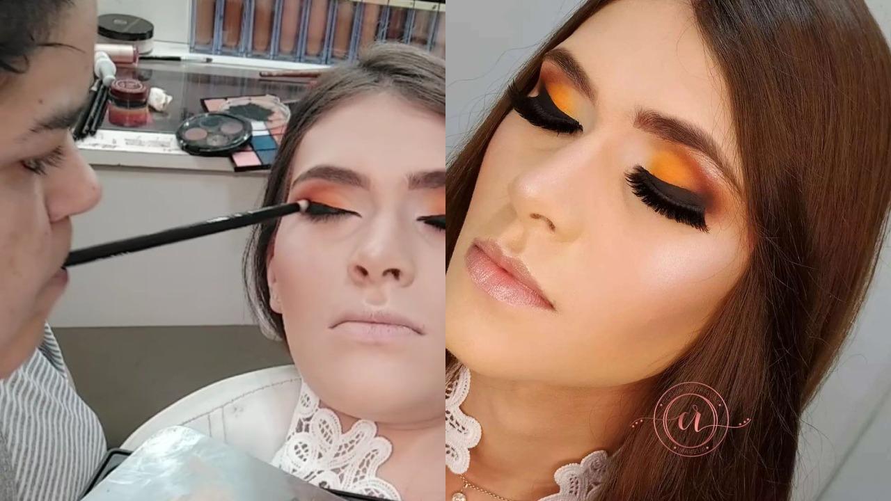 Tiktoker se hace viral por maquillar con la boca