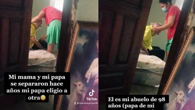 Video: Una mujer en México cuida a su exsuegro de 98 años