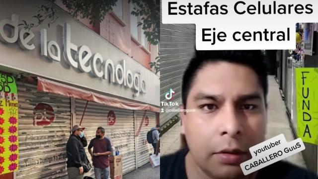 """VIDEO: """"Vas caminando en Eje Central"""". Joven denuncia cómo estafan en Centro de CdMx"""