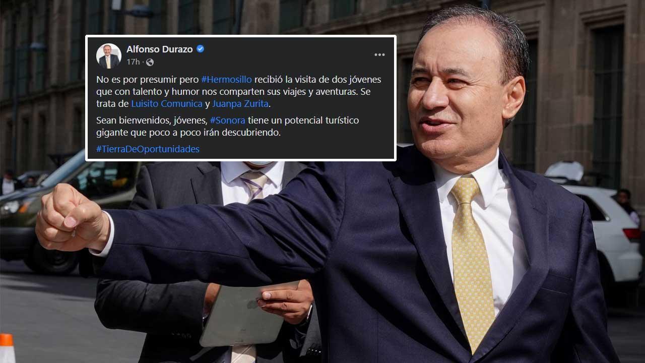 Durazo presume visita de Luisito Comunica y Juanpa Zurita