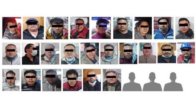 Detienen en Benito Juárez a 28 hombres por invadir un domicilio