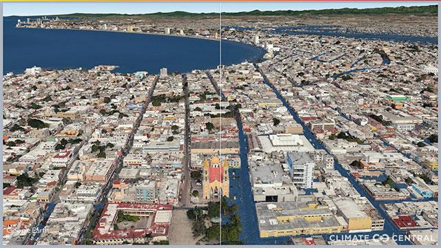 Ciudades mexicanas inundadas por el calentamiento global