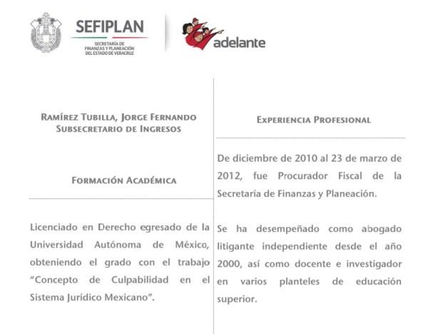 Jorge Fernando Ramírez Tubilla, primo de Karime Macias, paga todos los negocios de la família desde la Subsecretaria de Finanzas