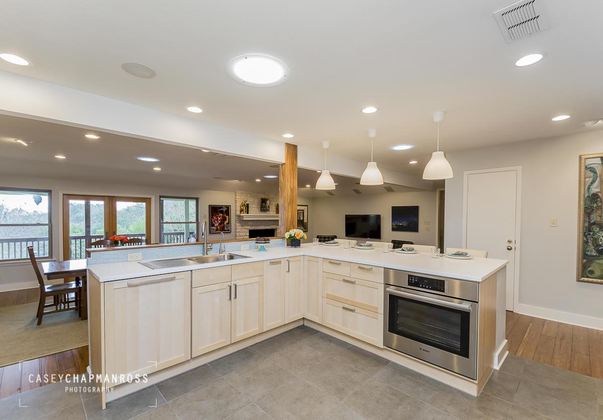 kitchen remodel austin cabinets set 70 39s era residential plumb