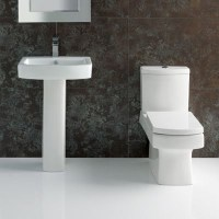 L-Shape Bathroom suite with Square Toilet and Sink ...