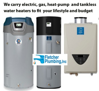 electric,gas and tankless water heaters