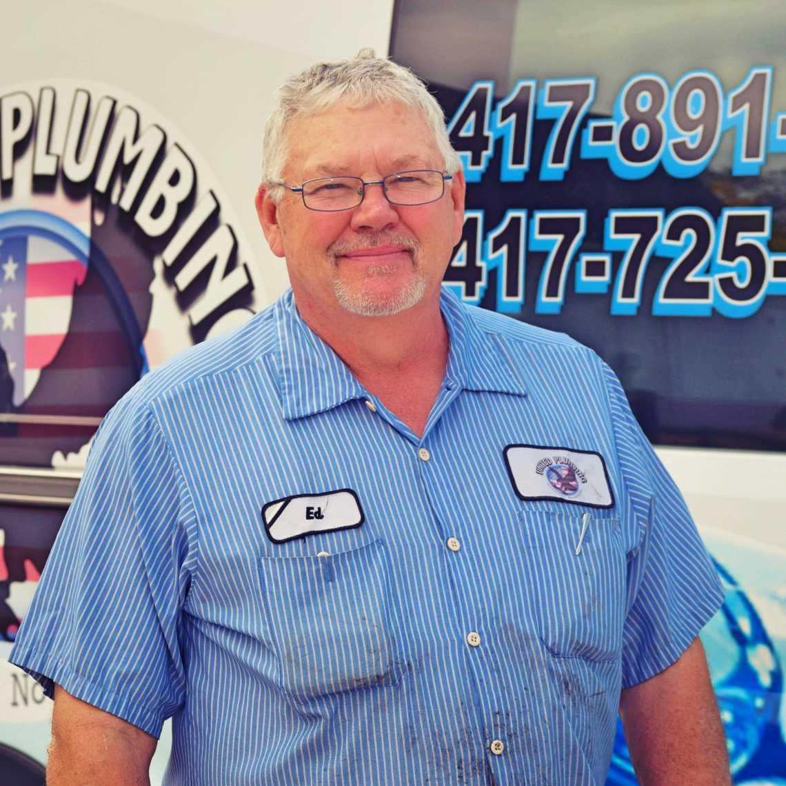 Ed Culbertson - Owner Square Headshot - United Plumbing Springfield MO