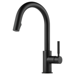 Kitchen Faucet Black Bar Stools For Brizo Solna Single Handle Dual Spray Pull Down Matte