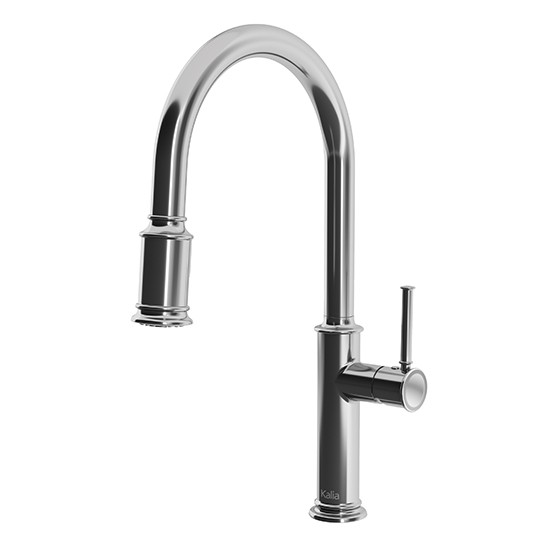 pull out spray kitchen faucet wood top for island kalia okasion single handle down dual kf1658 110 550x550 jpg