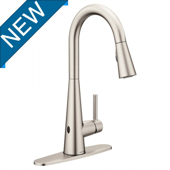 moen hands free kitchen faucet cupboard installation sleek motionsense wave spot resist stainless 7864ewsrs 550x550 jpg