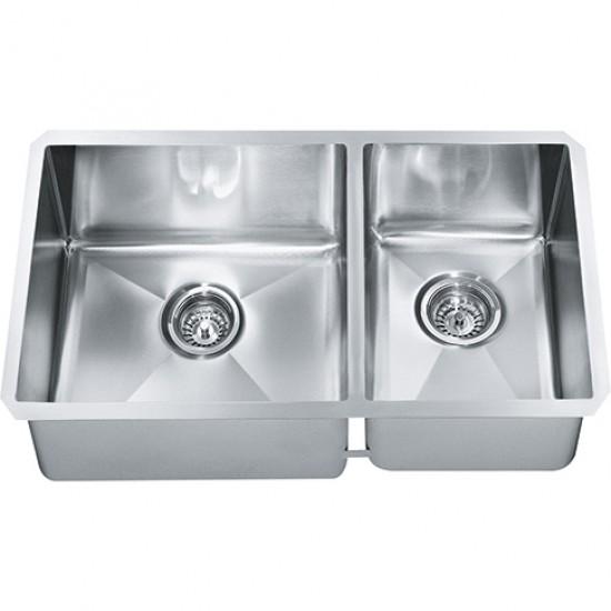 stainless steel undermount kitchen sinks outdoor hood franke techna sink 26 x 18