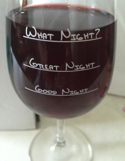 """""""What Night?"""" Funny Wine Glass #Review"""
