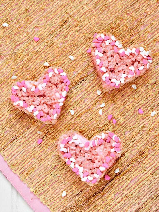 Valentines Strawberry Rice Krispies Treats Recipe Just