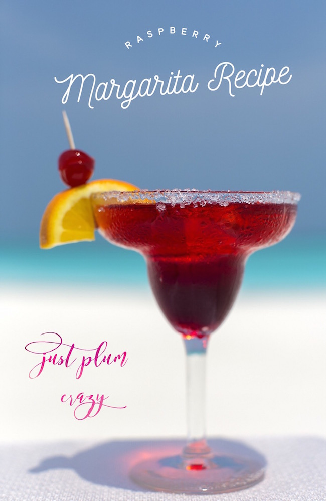 Raspberry Margarita Recipe Just Plum Crazy
