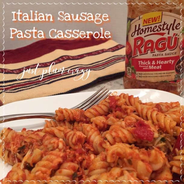 Italian Sausage Pasta Casserole Recipe & $25 Paypal Cash #Giveaway (ends 6/30)