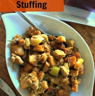 Sausage & Apple Stuffing Recipe Day 6 #12DaysOf