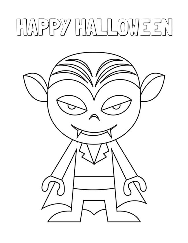 Halloween Coloring Pages Free Printable | Just Plum Crazy