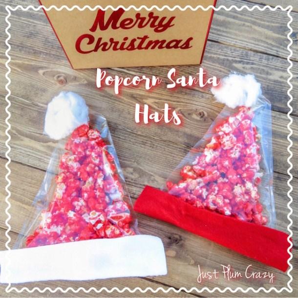 Easy Popcorn Santa Hats Recipe
