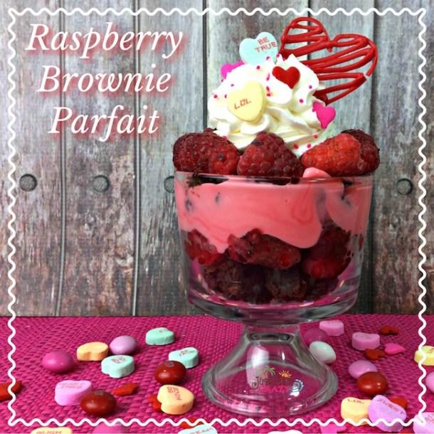 Raspberry Brownie Parfait Recipe