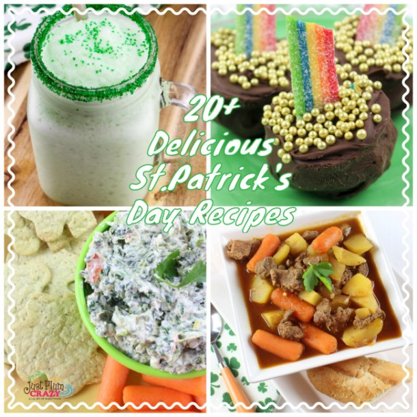 With St. Patrick's Day just a couple days away, we have put together a list of 20+ Delicious St. Patrick's Day Recipes for you to choose from.