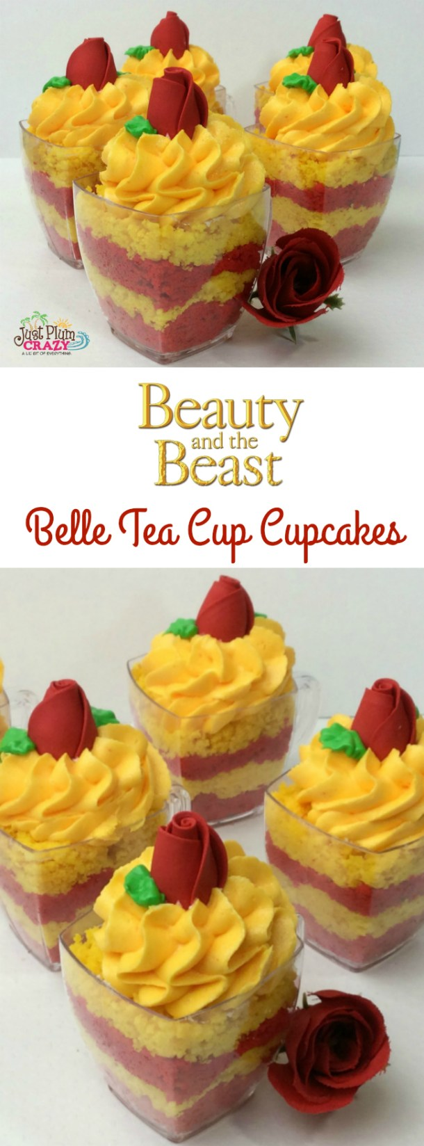 We are on a roll with sharing Beauty and The Beast recipes this week with a Belle Margarita recipe. Today we have some Belle Tea Cup Cupcakes recipe.