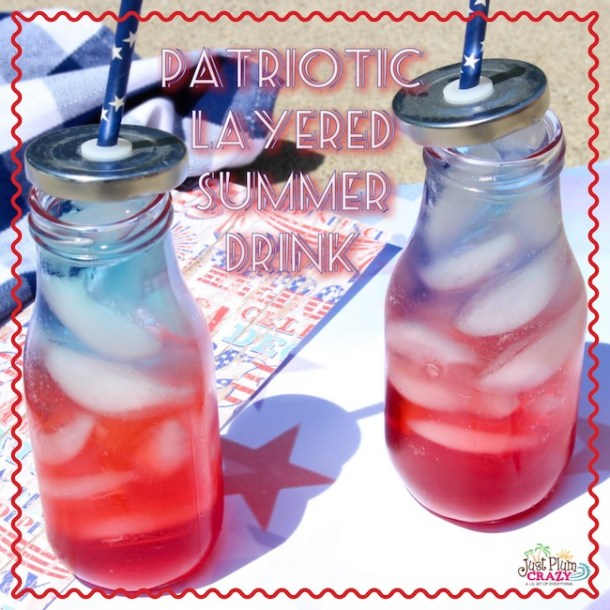 Patriotic Red, White And Blue Layered Drink Recipe