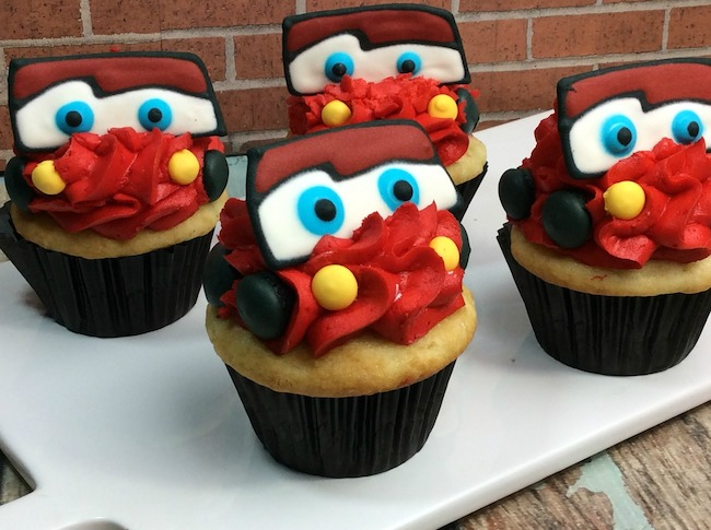 Lightning McQueen Cars Cupcake Recipe Cars3 Just Plum Crazy