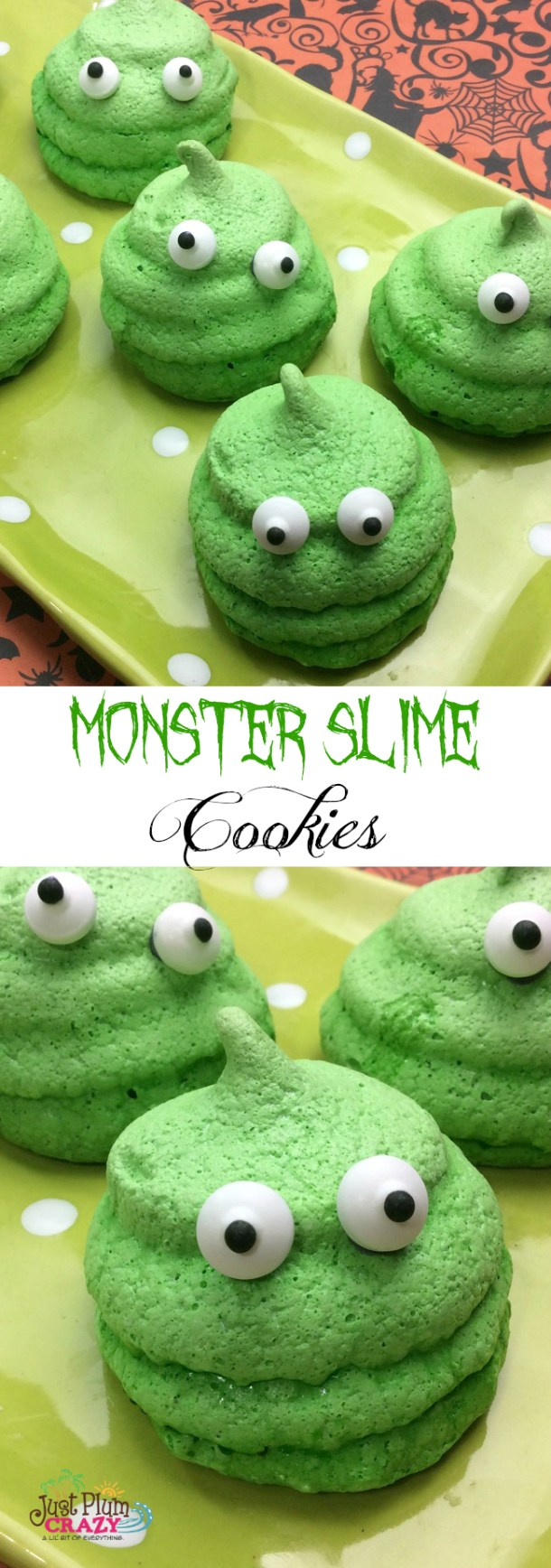 This Monster Slime Cookie recipe are just the cutest little monsters. The kids will fall in love with them. They make the perfect Halloween party treat.