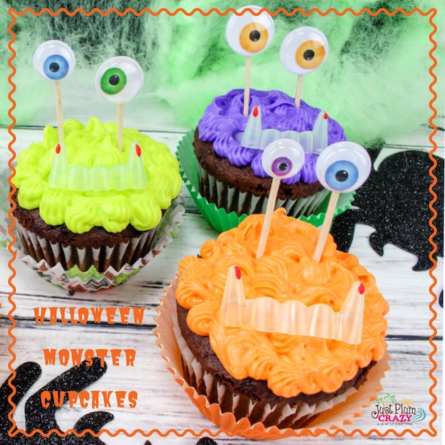 Halloween Monster Cupcakes Recipe