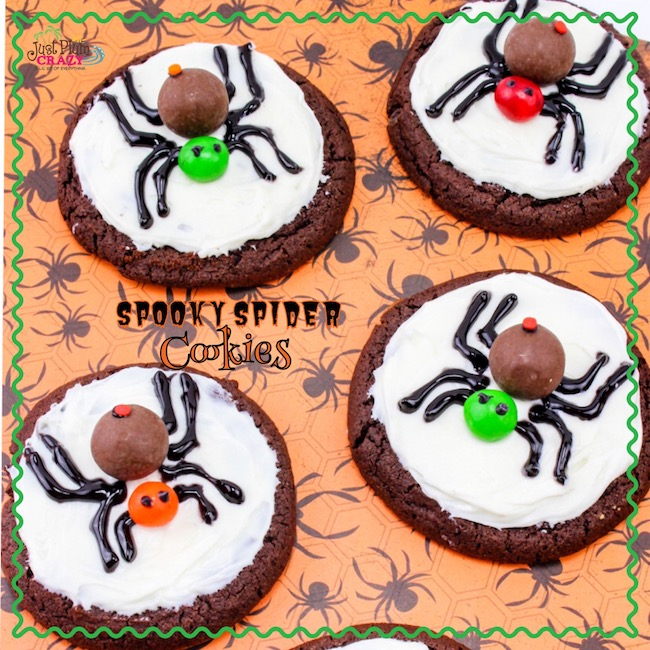 There's nothing spooky about these spider cookies but they go together perfectly with the Spider Web Cupcakes recipe that we just shared.