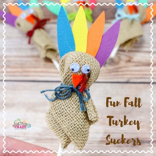 Fun Fall Turkey Suckers