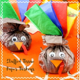 Stuffed Tissue Paper Turkey Craft