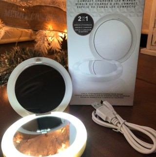 HoMedics Lighted Compact Mirror