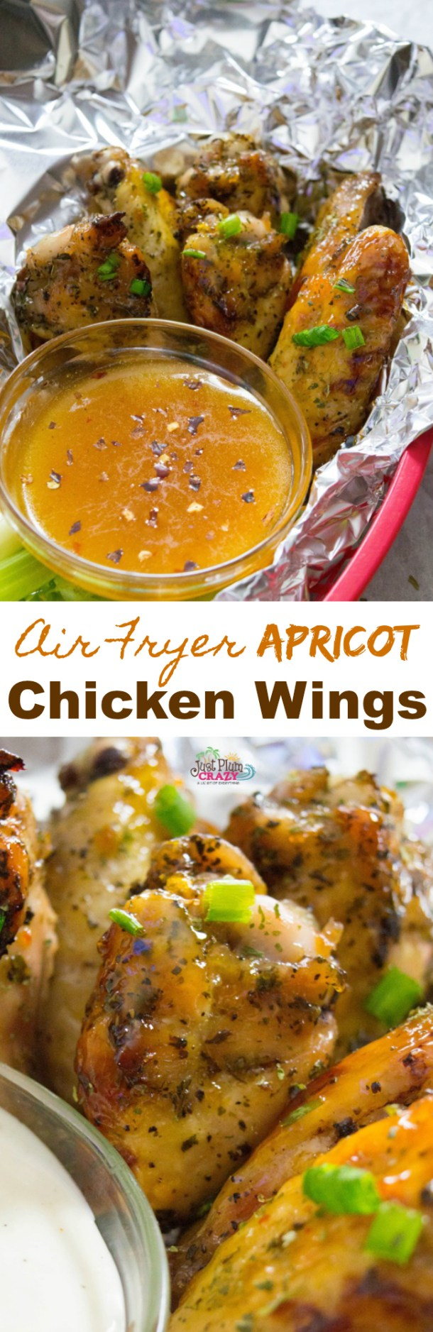 If you're following our National Food Days recipes, then today we have National Apricot Day. What better way to celebrate it than with an Air Fryer Apricot Chicken Wings recipe.