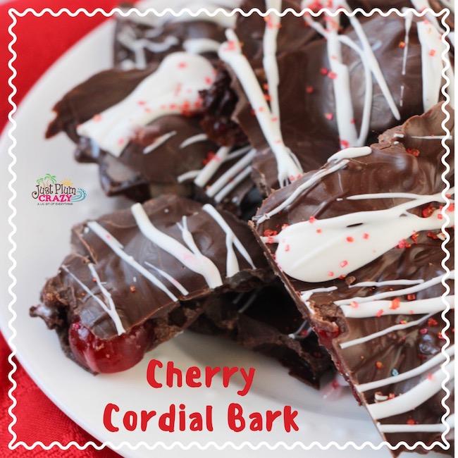 Chocolate Covered Cherry Cordial Bark Recipe
