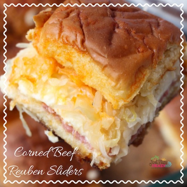 Corned Beef Reuben Sliders Recipe #NationalHotPastramiSandwichDay