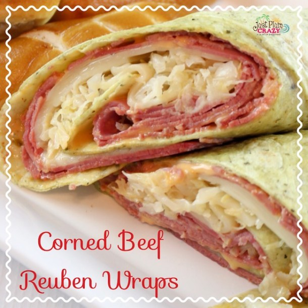 Corned Beef Reuben Wraps Recipe #NationalHotPastramiSandwichDay