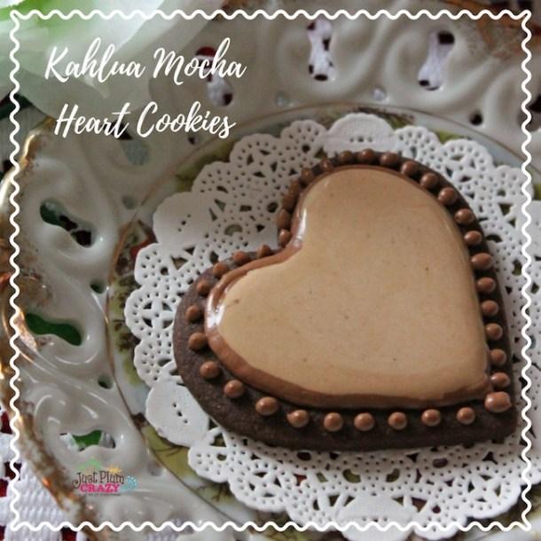 Kahlua Mocha Heart Cookies Recipe #NationalBittersweetChocolateDay