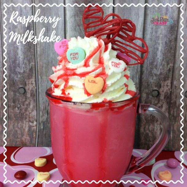 Valentines Day Raspberry Milkshake Recipe #NationalMilkDay