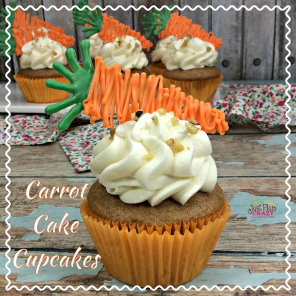 Carrot Cake Cupcakes Recipe with Chocolate Carrots
